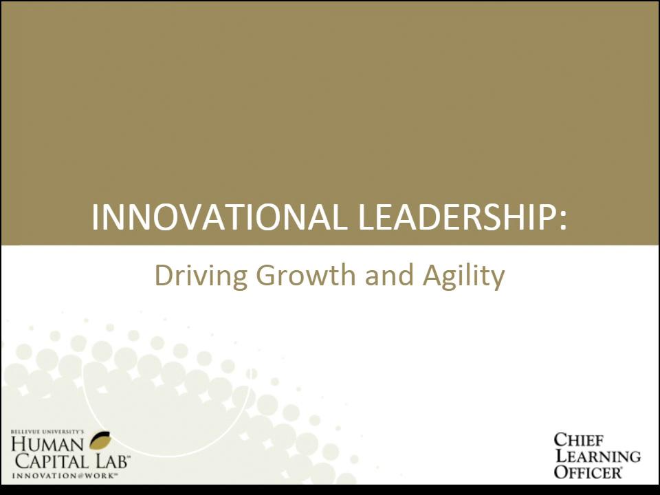 Innovational Leadership Webinar